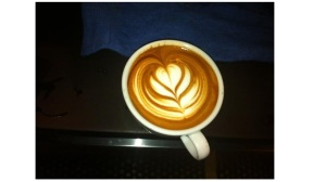 An example of Latte Art (don't be misled to think I drew this; credits to Ms. Cole)