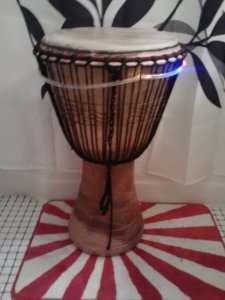 Djembe: A large West African population in Edgewater ensures your opportunity of purchasing one of these for under $120. Hand carved, the drum head's made of goat skin. Hitting the middle gives a deep bass, hitting the side gives a snappy slap-slap.